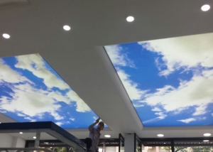 Backlit Ceiling - Barakat Travel
