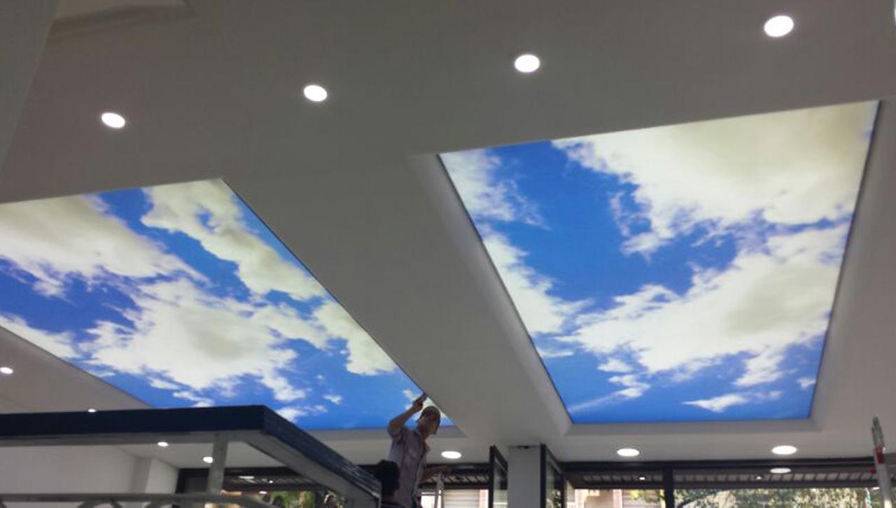 Backlit Ceiling - Barakat Travel